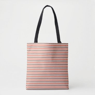 Beach Themed Small chevron pattern in natural colors tote bag