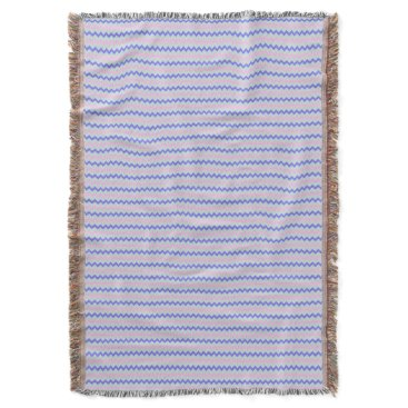 Beach Themed Small chevron pattern pink blue throw blanket