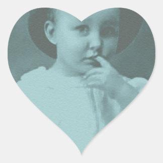 Small Child Heart Sticker