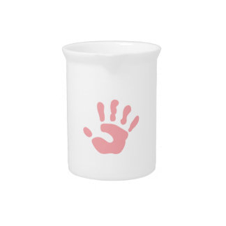 SMALL CHILDS HANDPRINT BEVERAGE PITCHERS