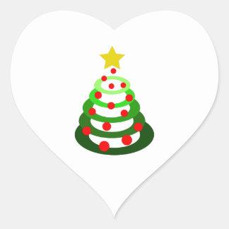 small christmas tree heart sticker