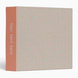 Small circles dots in grey and vermilion 3 ring binder