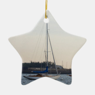 Small Classic Sloop Christmas Ornaments