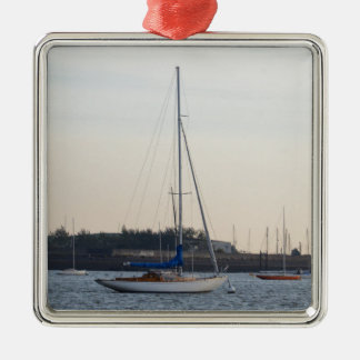 Small Classic Sloop Christmas Ornament