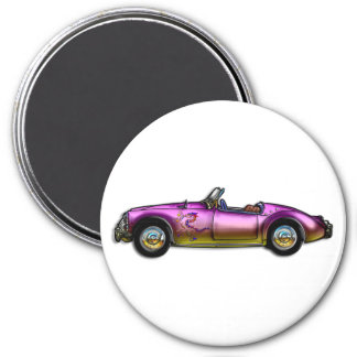 small classic sports car magnet