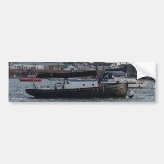 Small Classic Style Yacht Bumper Sticker
