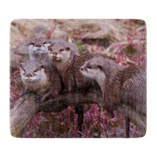 Small Clawed Otters Cutting Board
