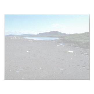 Small coastal pond at Cape Lisburne 4.25x5.5 Paper Invitation Card