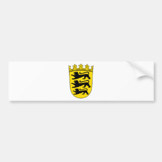 Small coat of arms of Baden-Wuerttemberg Car Bumper Sticker