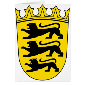 Small coat of arms of Baden-Wuerttemberg Card