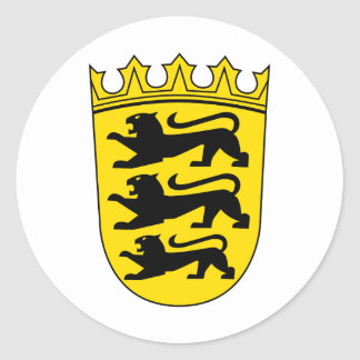 Small coat of arms of Baden-Wuerttemberg Classic Round Sticker
