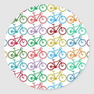 small color bicycles classic round sticker