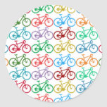small color bicycles round sticker