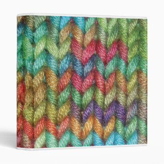 Small Colorful Binder For the Knitter in Your Life