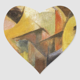 Small Composition I by Franz Marc Heart Sticker