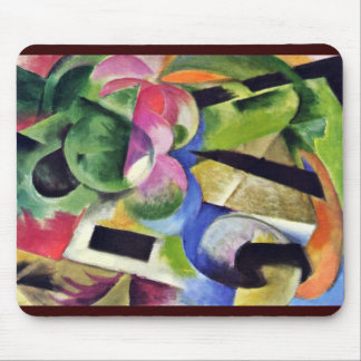 Small Composition (Ii) (House) With Trees Mousepads