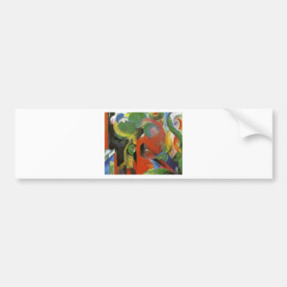 Small Composition III by Franz Marc Bumper Sticker