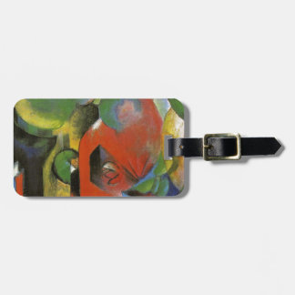 Small Composition III by Franz Marc Luggage Tag