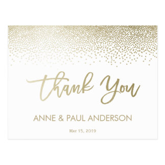 Small Confetti Thank You Card