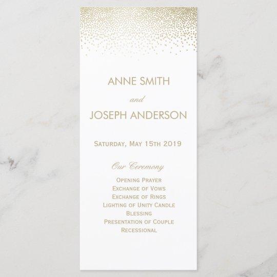 small confetti wedding program zazzle com