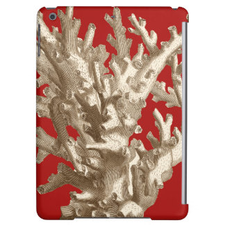 Small Coral in Red iPad Air Covers