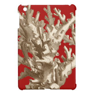 Small Coral in Red iPad Mini Covers