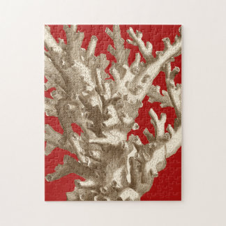 Small Coral in Red Puzzle