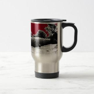 Small Cornfield with Dark Red Sky 15 Oz Stainless Steel Travel Mug