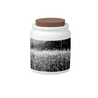 Small Cornfield with Dark Red Sky Candy Jar