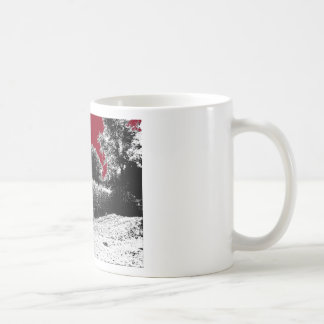 Small Cornfield with Dark Red Sky Classic White Coffee Mug