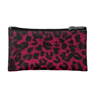 Small Cosmetic Bag~Pink Leopard Print Makeup Bag