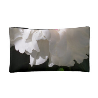 small cosmetic bag with flower