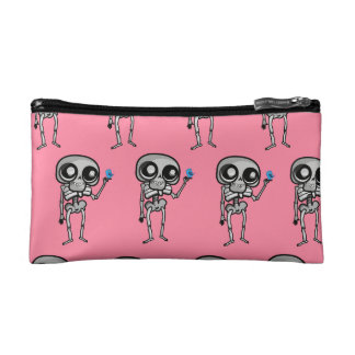 Small cosmetic bag with skeleton