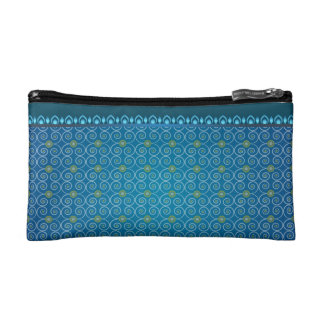 Small Cosmetic Blue Bag