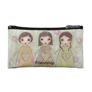 Small cosmetics bag- Friendship Cosmetic Bag