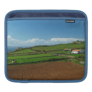 Small cottage and pastures iPad sleeve