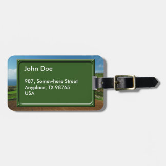 Small cottage and pastures tags for luggage
