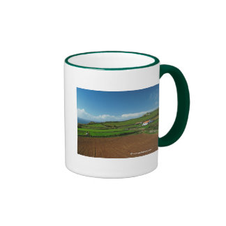 Small cottage and pastures ringer mug