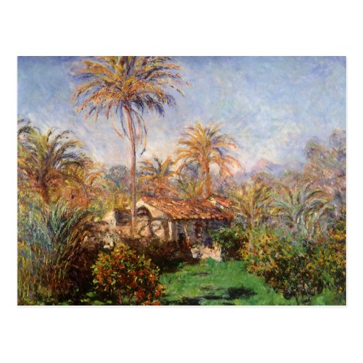 Small Country Farm by Claude Monet, Vintage Art Postcard