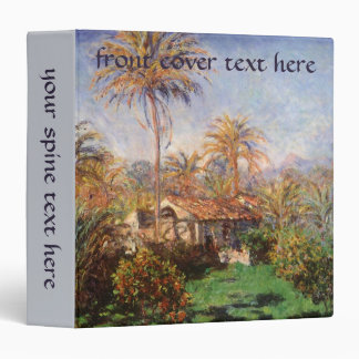 Small Country Farm in Bordighera by Claude Monet 3 Ring Binder