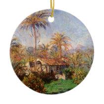 Small Country Farm in Bordighera by Claude Monet Ceramic Ornament