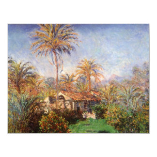 Small Country Farm in Bordighera by Claude Monet 4.25x5.5 Paper Invitation Card