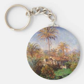 Small Country Farm in Bordighera by Claude Monet Key Chain