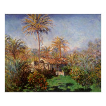 Small Country Farm in Bordighera by Claude Monet Poster