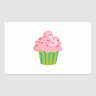 SMALL CUPCAKE RECTANGLE STICKERS