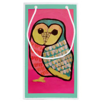 Small Custom Gift Bag with Cute Owl