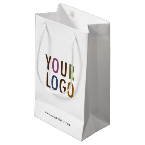 Small Custom Paper Shopping Bag with Company Logo
