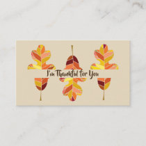 Small Custom Thankful for You Notes w Bible Verse Business Card