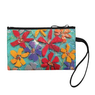 Small Cut-Flower mosaic glass wrist bag