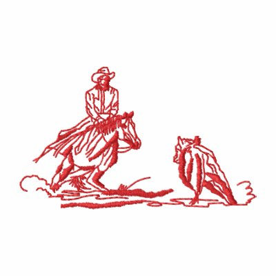 Small Cutting Horse Outline